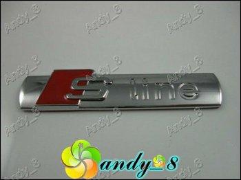 100pcs Metal S Line 3D Emblem For Audi S-Line Sline Golf Badge Sticker 7.2cm x 1.5cm Badges
