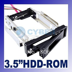 3.5 SATA HDD-Rom Hard Drive Disk Aulminum Mobile Rack Free shipping(China (Mainland))