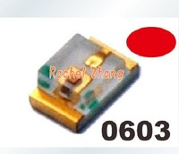 100pcs*0603 Ultra Bright SMD,  RED LEDs,freeshipping