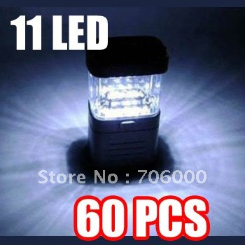 60PCS/LOT 11 LED Outdoor Camping Lights / Tent Lamp / Camp Light / Camping Lantern(China (Mainland))