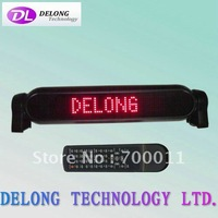 12V 7X50pixel P4mm dot matrix indoor red scrolling led car sign with remote control,free shipping to USA and Canada