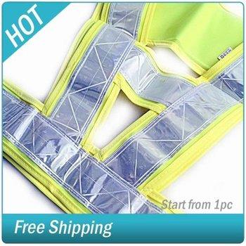 High Visibility Crossing Guard Safety Vest Vests Large #007807-003