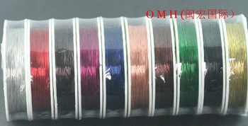 OMH wholesale 4roll 100m X 0.3mm DIY production tool line mixed Stainless Steel enameled metal wire copper wire DY08