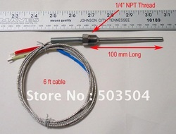 Industrial thermocouple with 1/2NPT , K type 0-800C,high accuracy, fast response(China (Mainland))