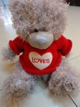 22cm Curly cute bear sweater beggars Teddy Bear