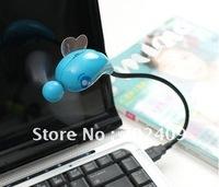 100pcs/lot Mini Insect shape computer USB fan Novelty Gifts Mini  Flexible USB Cooling fan for PC NB Computer