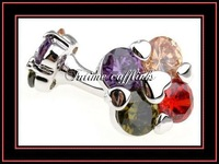 intime fashion shipping free fashion rhinestone cufflinks (6845)