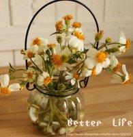 [Free Shipping] Vintage pumpkin  iron wire glass vase,hang vase,glass vessel,flower vase