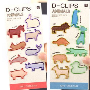 Free Shipping/Creative colorful Metal cute animal Bookmarks/Paperclip/Cartoon Book marks/Paper Clip/Office & School/Wholesale