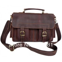 6037# Vintage Leather Style Men's Handbag Briefcase Messenger Bag Wholesale