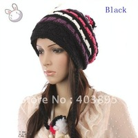 Free shipping(20pcs)Wholesale Fashion Cap For Lady Winter Warm Hat With 4Colors New Design Handmade Hat(In Stock)
