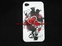 Free shipping TPU flower case for iphone 4. case for 4g, phone case , phone cover, cheapest price in stock hot selling