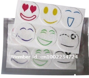 40pack/lot Cute Smiling Mosquito Repellent Sticker Repeller Patch anti Natural Essential Oil mat