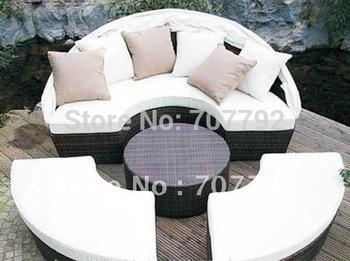 Elegant rattan outdoor furniture