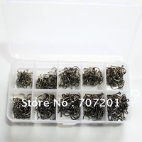 500pcs High Qulity Carbon Steel Fishing Hooks Sharp 3#-12#