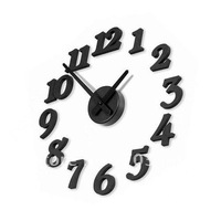Free Shipping Novelty DIY 360 Modern Art Design Wall Clock DIY Clock