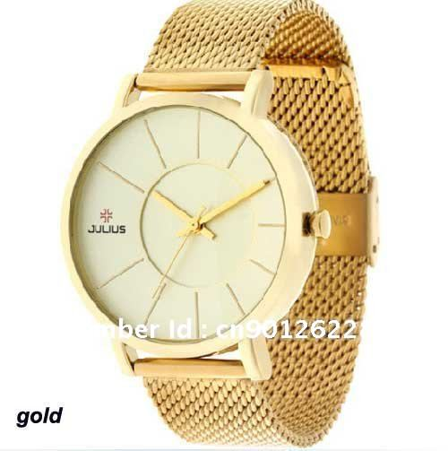 Fashion, Hotsale, Julius Men's Wrist Watch Quartz Round Stainless Steel Strap, JA 494, Free Shippping(China (Mainland))