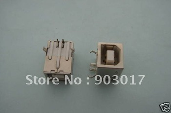 Female USB Socket Right Angle PCB Connector 4 pin  BF90 1000 pcs per lot
