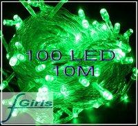 Green  100 LED 10M christmas wedding String Fairy Lights Christmas led light,10pcs/lot,free shipping