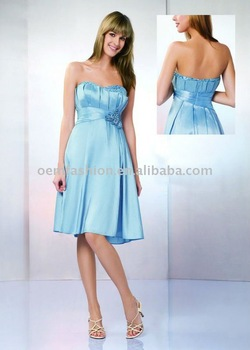 Newest style Short Beaded Satin Party Dress HL-SD334