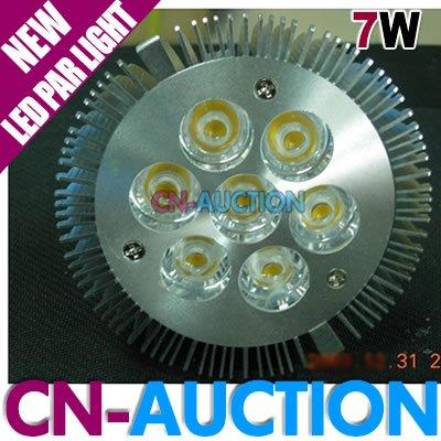 FS! E27 7W Par30 LED Lamp 7*1W High Power LED Light Bulb LED Spotlight 85V~265V Pure white / Warm white (CN-LLB80) [Cn-Auction](China (Mainland))