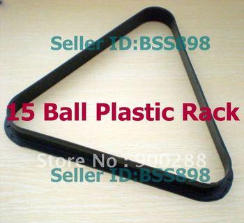 "Free Shipping 2pcs/LOT 15 Ball Triang Rack Finish Pool Table Billiards Plastic snooker  2-1/4"" ball"