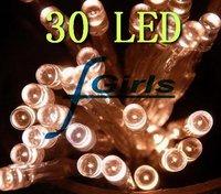 Warm white 30 LED Battery String Light For Wedding Party Christmas LED light , 50pcs/lot.Free shipping