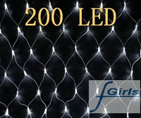 White  200 LED BIG NET light for wedding Party garden decorate ,Christmas LED light 2mx3m,10pcs/lot
