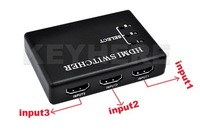 3 Port HDMI Switch Switcher Splitter 1080P For PS3 DVD HDTV +IR Remote control