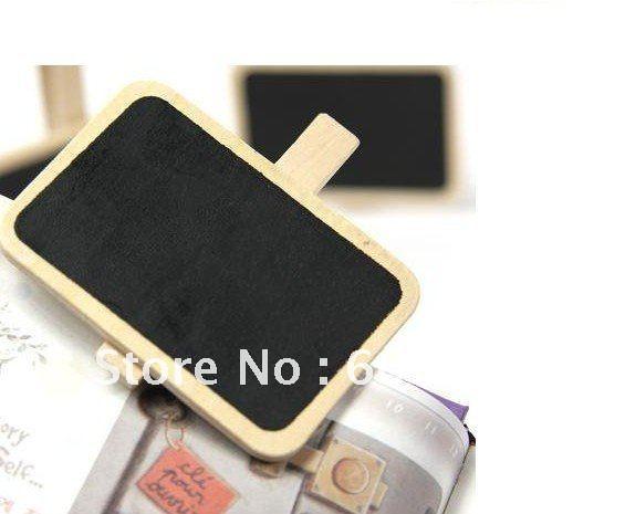 Frete Grátis / NEW madeira pequeno clipe / quadro-negro de madeira placa de grampo / Clip / Message pastas / Moda / Estilo criativo presente / Atacado bonito(China (Mainland))