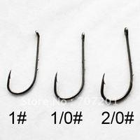1000pcs Baitholder with eye high carbon Fishing Hooks 1# 1/0# 2/0#