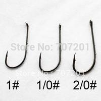1000pcs Baitholder with eye high carbon Fishing Hooks 1# 1/0# 2/0#