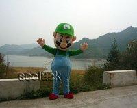 Free Shipping Guarantee of Captain Luigi Cartoon Mascot Costumes Mario Bros For Sale