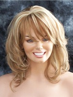 Strawberry Blonde with Pale Blonde highlights wig