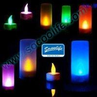 Free shipping wholesale 100pcs 7 colors change LED candle night light