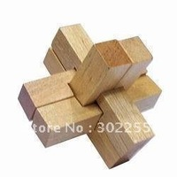 20x Triple Cross - Wooden Brain Teaser Puzzle Toy Fedex/EMS FREE SHIPPING