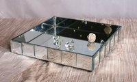 MR-301007 mirrored tray, mirrored plate, wine bottle holder,perfume bottle holder