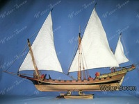 Model ship kit Le Requin (The Shark) 1:48 44 inch Historic Famous Ship Wood Free Shipping