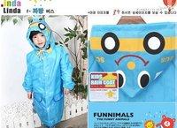 Wholesale 10pcs Japan cartoon animal shaped kid's poncho,children raincoat free shipping