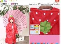 Wholesale 10pcs Japan cartoon animal shaped kid's rainwear,rainsuit,children raincoat free shipping