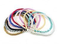 free shipping! 100pcs/lot fashion 8mm pearl headbands,10colors mixed
