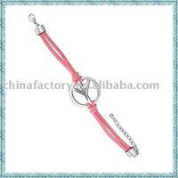 2011 fashion cord peace alloy  fashion latest bracelets