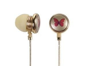 Beautiful In-ear Headphone 3.5mm Jack with Volume Control Microphone(China (Mainland))