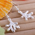 Free shipping 925 earrings wholesale fashion drop earrings 925 silver tree charm earrings jewelry E067