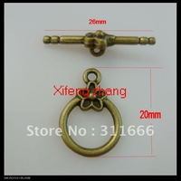 130 pairs/lot alloy jewelry toggle clasps OT clasps Free shipping