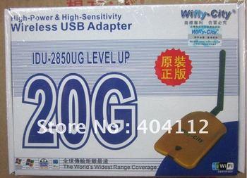 Free shipping!!!Wireless WIFI USB 2.0 adapter wifly- city 20G wireless wifi lan card network Cards