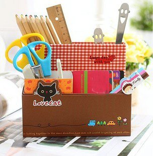 8pcs/lot, creative stationery box & cute stationery holder, DIY stationery box & Free shipping(SS-403)(China (Mainland))