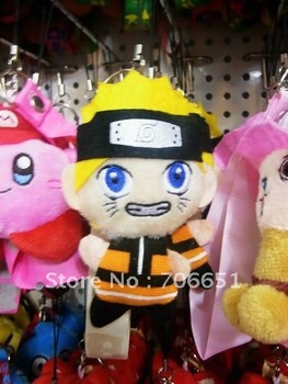 wholesale + free shipping  Naruto  4' plush doll toy kids plush toy child plush toy mix order & drop shipping 071811
