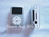 Wholsale 8 colors cheaper Mp3 player with clip and LCD screen+Free shipping 10pcs/Lot