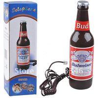 Free Shipping Budweiser Beer Bottle Corded Phone Novelty Budweiser Telephone